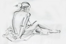 Figure Drawing with an Element of Composition Photo