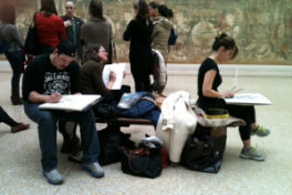 Drawing Class At The MET With Views of Central Park Photo