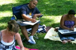 Drawing Class In Central Park Photo