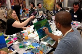 BYOB Wine and Painting Class Party Photo