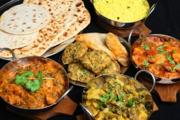 A Vegetarian Indian Feast Photo