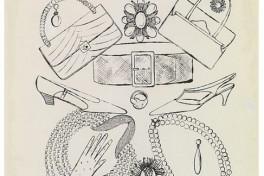 Andy Warhol Fashion Still Life Drawing Session Handbags Photo