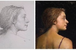 The Portrait from Pencil to Paint Photo
