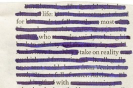 Newspaper Blackout Poetry Photo