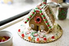 Gingerbread House Decorating Photo